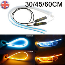 Blue/Yellow Sequential LED Strip Turn Signal Indicator DRL Daytime Running Light