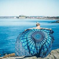 Indian Hippie Mandala Wall Hanging Cotton Bed Cover Bohemian Bed Spread  TA07