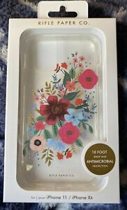"""NEW! Case-Mate iPhone 11 XR 6.1"""" Case Rifle Paper Co Floral Clear 10ft"""