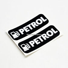 2x PETROL Only Fuel Laminated Weatherproof Car,Van,Taxi,Bus Vinyl Label Stickers