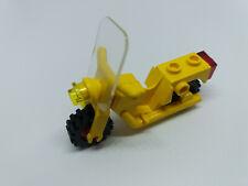 LEGO Mottorad Gelb mit Scheibe und Scheinwerfer