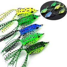 5* Frog Fishing Lure Crankbaits Hooks Artificial Fishing Lures Black Fish Killer
