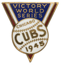 1945 Chicago Cubs World Series Press Pin (EX) - Curse of the Billy Goat