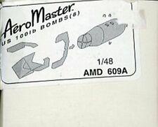 Aero Master 1:48 US 100lb Bombs (8) Resin Detail Set #AMD609A