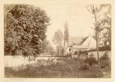 Etude de paysage  Vintage albumen print. Tirage albuminé  12x17  Circa 188