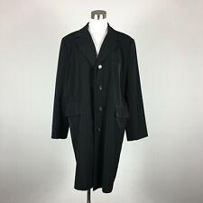 Jacqueline Ferrar XL Light Coat Black 4 Button Flap Pockets Lined