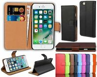 Luxury Genuine Real Leather Flip Case Wallet Cover For Various Apple iPhone