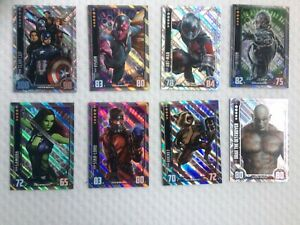 HERO ATTAX MARVEL CINEMATIC UNIVERSE RARE TRADING CARDS X 8 WITH FREE POSTAGE