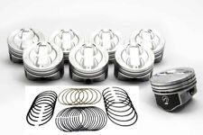 Federal Mogul Chevy 350/5.7 Hypereutectic Dish Pistons Set/8 +020 8.9:1 w/rings