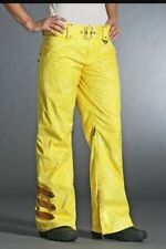 Oakley Gretchen Bleiler Mane Women's Snowboard Pants XS Yellow MSRP $299
