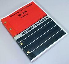 Massey Ferguson 235 Tractor Service Repair Shop Manual Technical Workshop Mf235