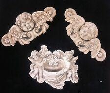 set of 3 wall sculptures angels cherubs wall décor Eros heavenly