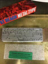 New Letterpress Type 12 Point Bembo Roman