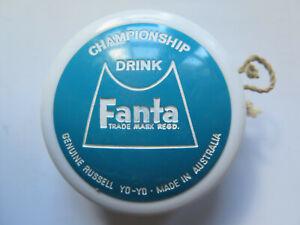 FANTA COCA COLA COMPANY RUSSELL PLASTIC YO YO MADE in AUSTRALIA c1950s to 1960s