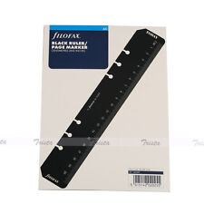 Filofax A5 Size Organiser Ruler Page Marker Black Insert Refill-343609