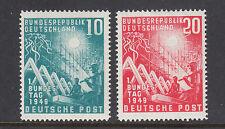 Germany Sc 665-666 MNH. 1949 Reconstruction, cplt set, VF