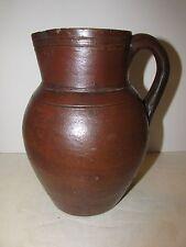 Antique Stoneware Cream Pitcher , Circa 1850, South Eastern Provenance