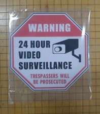 "Video Surveillance Security Sign Outdoor 9mil. PVC 5.875"" Octogon."