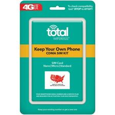 Total Wireless Bring Your Own Phone CDMA SIM Activation Kit (Triple Punch)