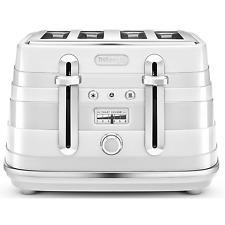 DeLonghi Avvolta CTA4003.W 1800W 4-Slice Toaster - White