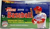 2019 Topps Heritage Baseball Hobby Box Factory Sealed