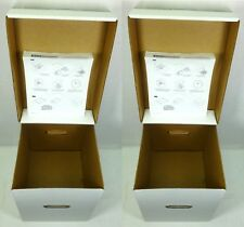 "(2) Two Heavy-Duty 12""or LP Record Box For Road or Storage Vinyl Album Box w/Lid"