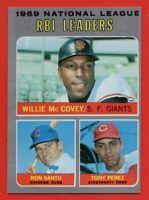 1970 Topps #63 RBI Leaders NEAR MINT+ Willie McCovey Ron Santo Tony Perez Cubs