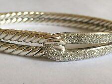 $2950 DAVID YURMAN SS PAVE LABYRINTH DIAMOND BRACELET
