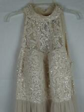 Speechless Dress Juniors Size 17 High Neck Sequin Ivory Long Dress Fancy Prom