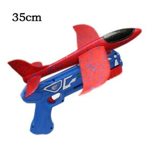 Airplane Launcher Toy Gun Catapult Foam Plane Ejection Hand Throw Aircraft Sport