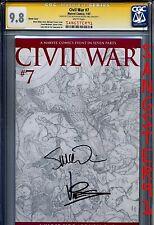 Civil War #7 (CGC 9.8 SS) Michael Turner Sketch Cover