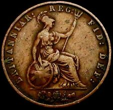 S250: 1853 Large Queen Victoria Copper HALFPENNY