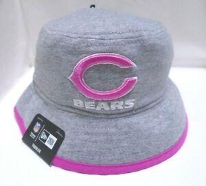 Chicago Bears Girl's Toddler New Era Bucket Hat Cap Pink