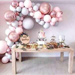 169PCS Pink Balloon Arch Kit Garland Birthday Wedding Party DIY Decoration