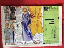 m2b ephemera 1973 large folded advert marshall ward fabulous fashions for all