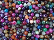 Gemstone Beads 45pc Mix Agates 6mm Round Semi Precious Gem Natural FREE POSTAGE