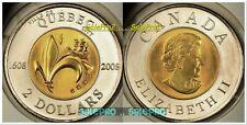 CANADA 2008 CANADIAN VILLE DE QUEBEC QUEEN TOONIE RARE BIMETAL $2 DOLLAR COIN