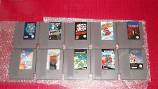 LOT NES 11 JEUX DIVERS DONT Double Dragon II, Super Mario Bros 1 & 2, Popeye LIF