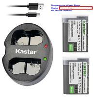 Kastar Battery USB Dual Charger for Nikon EN-EL15e Nikon D750 Nikon D800 Camera