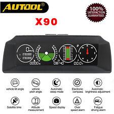 Autool X90 Vehicle Smart GPS Multi-functional Horizontal Speedometer Slope Meter