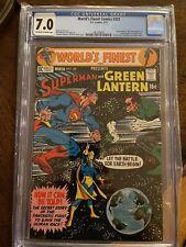 Worlds Finest Comics #201 CGC 7.0 Superman Vs Green Lantern D.C Comics RARE