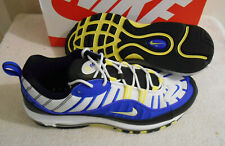 2019 Nike Air Max 98 Racer Blue White Black Sneakers Size 12 640744 400