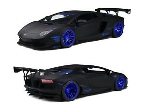 1/12 Gt Spirit Lamborghini Aventador lb-Works Matt Black New Free Shipping Home