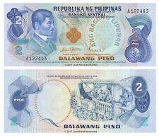 Philippines 2 Piso ND (1970's) P-152 First Prefix Sig # 8 Banknotes UNC