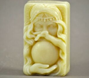 FORTUNE TELLER SILICONE MOLD soap wax resin plaster clay BATH  MAGIC BALL FAIRY