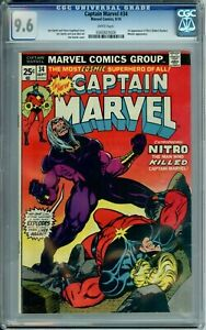 CAPTAIN MARVEL 34 CGC 9.6 WP 1st NITRO Robert Hunter MENTOR MARVEL Comics 1974