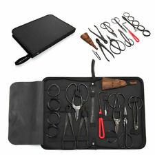 Garden Handmade Bonsai Tool Set Carbon Steel Extensive 15pcs Kit Cutter Scissors