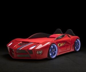 Ferrari Racing Car Bed with LED Lights & Music RED