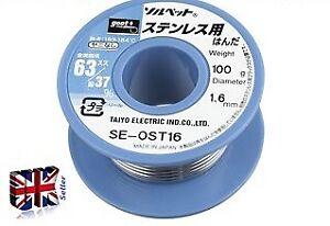 GOOT SE-0ST16 solder -Stainless-use solder Pb-Sn 63-37% ø1.6mm 100g