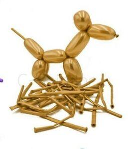 Animal Flower Party Twist Latex Tying Magic Long Balloons Metallic Gold Silver